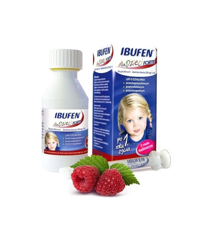 Ibufen dla dzieci Forte o sm.malinowym zaw