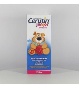 Cerutin Junior, smak malinowy, syrop, 120 ml
