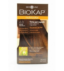 BIOKAP NUTRICOLOR 6.3 Ciemny Złoty Blond 1