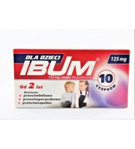 Ibum 125 mg 10 czopków