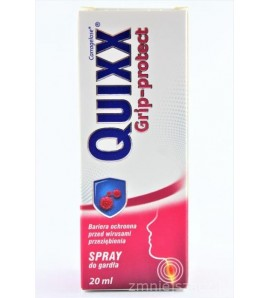 Quixx® Grip-protect, Spray do gardła, 20ml