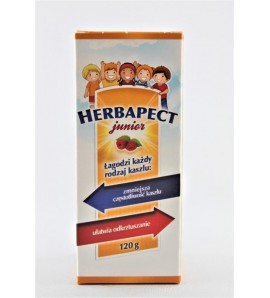 Herbapect Junior syrop o smaku malinowym 120 g