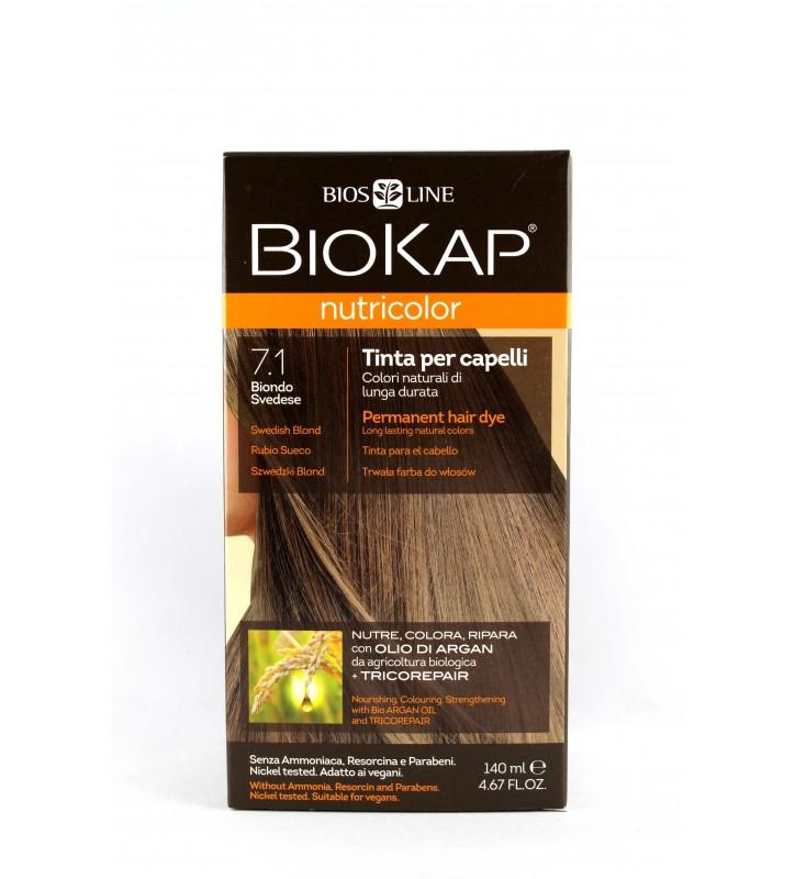 BIOKAP NUTRICOLOR 7.1 Szwedzki Blond 140ml