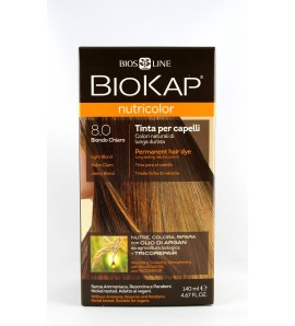 BIOKAP NUTRICOLOR 8.0 Jasny Blond 140ml