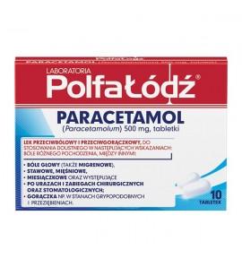 Laboratoria PolfaŁódź Paracetamol, 500 mg, tabletki, 10 szt