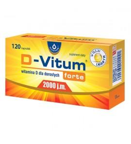 D-Vitum Forte 2000 j.m., kapsułki z witaminą D dla dorosłych, 120 szt