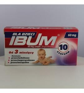 Ibum dla dzieci 60mg 10 czopków