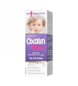Oxalin Baby, 0,25 mg/g, żel do nosa, 10 g, butelka
