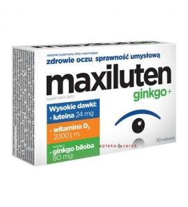 Maxiluten ginkgo+, tabletki, 30 sztuk