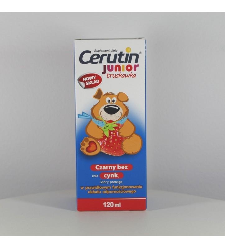 Cerutin Junior sm.truskawkowy syrop 120ml