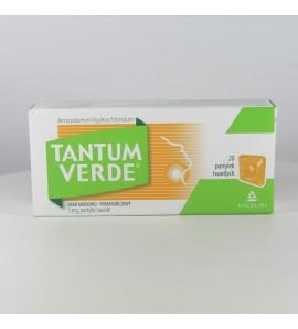 Tantum Verde, 3 mg, pastylki twarde do ssania, smak miodowo-pomarańczowy, 20 szt.