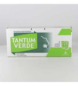 Tantum Verde P, mg, pastylki twarde do ssania, smak miętowy,  20 szt.