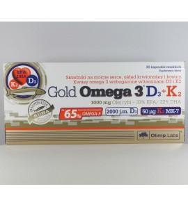 OLIMP Gold Omega 3 D3+K2, kapsułki, 30 szt.