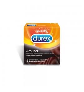 DUREX Arouser, prezerwatywy prążkowane, 3 szt.
